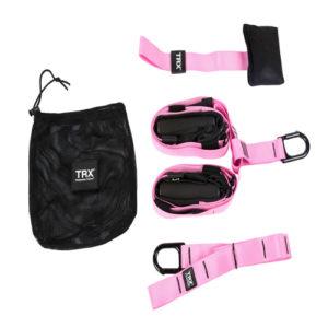 Петли TRX Home розовые (с лого)
