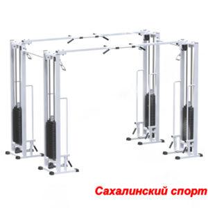 Двойной кроссовер на базе реабилитационной рамы (стек 2х100кг)